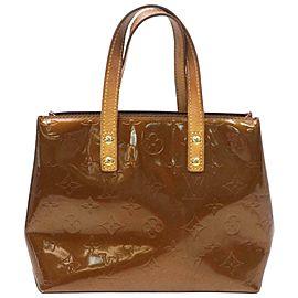 Louis Vuitton Reade Copper Pm 871758 Brown Monogram Vernis Leather Tote