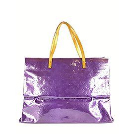 Louis Vuitton XL Purple Monogram Vernis Reade GM Tote 862145