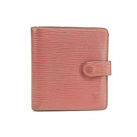 Louis Vuitton 39LK0109 Red Epi Compact Snap Wallet