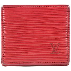 Louis Vuitton Red Epi Leather Collapsible Boite Coin Box 402lvs527