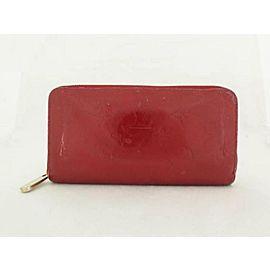 Louis Vuitton Red Monogram Vernis Zippy 226818 Wallet