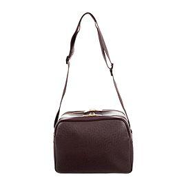 Louis Vuitton Reporter Pm 216060 Burgundy Leather Cross Body Bag