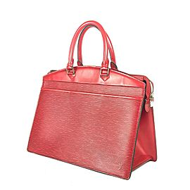 Louis Vuitton Riviera Boston Vanity 2lva724 Red Epi Leather Tote