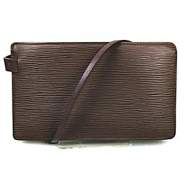 Louis Vuitton Pepper Grey Rochelle Waist Pouch Bum Bag Fanny Pack 862796