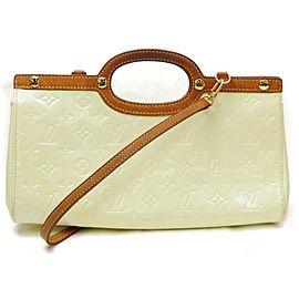 Louis Vuitton Roxbury Drive 872004 Ivory Perle 2way Cream Monogram Vernis Leather Shoulder Bag