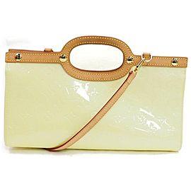Louis Vuitton Roxbury Drive 872082 Perle with Strap Cream Monogram Vernis Leather Shoulder Bag