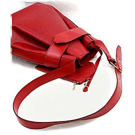Louis Vuitton Sac D'epaule Twist Bucket Hobo With Pouch 871914 Red Epi Shoulder Bag