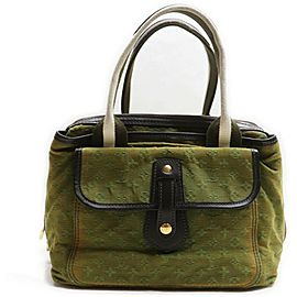 Louis Vuitton Khaki Olive Monogram Mini Lin Sac Mary Kate Tote Bag 86298