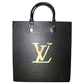 Louis Vuitton Sac Plat Fusion Fire Led Elvlm19 Black Leather Satchel