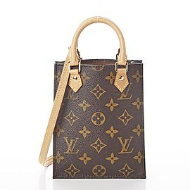 Louis Vuitton Monogram Nano Petit Sac Plat with Strap Mini Bandouliere 861805