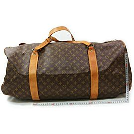Louis Vuitton Monogram Sac Polochon 65 Bandouliere Keepall Duffle with Strap 862778