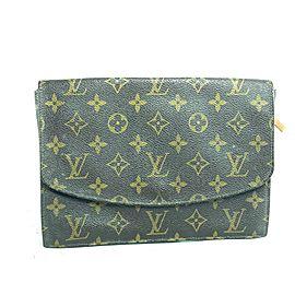 Louis Vuitton Sac rabat Rabat Monogram Envelope 29l618 Brown Coated Canvas Clutch
