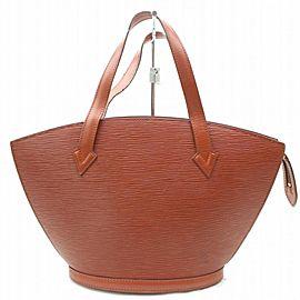 Louis Vuitton Epi Saint Jacques Zip Tote 869928 Brown Leather Shoulder Bag