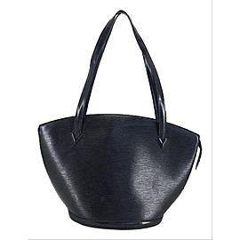 Louis Vuitton Saint-Jacques St Jacques Zip Tote 211680 Black Epi Leather Shoulder Bag