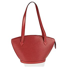 Louis Vuitton Saint Jacques Zipper 2la422 Red Epi Leather Tote