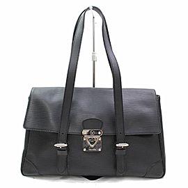 Louis Vuitton Segur Mm 867540 Black Epi Leather Satchel