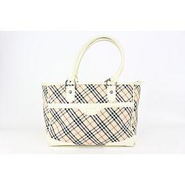 Louis Vuitton Nova Check White Shopper Tote Bag 824bur40