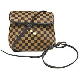 Louis Vuitton Louis Vuitton Shoulder Bag Gazelle Browns Damier Sauvage 863047