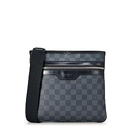 Louis Vuitton Shoulder Thomas Grays Damier Graphite 872903 Black Coated Canvas Cross Body Bag