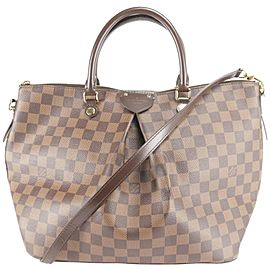 Louis Vuitton Siena Damier Ebene Gm with Strap 2way 14lk1206 Brown Coated Canvas Shoulder Bag