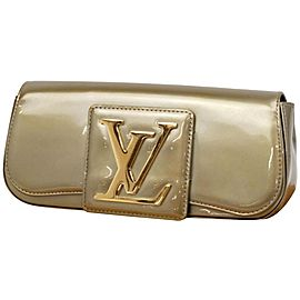 Louis Vuitton Sobe SoBe Khaki Monogram Vernis 232057 Green Patent Leather Clutch