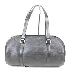 Louis Vuitton Black Epi Leather Noir Soufflot Papillon Cyllinder Barrel Bag 861680