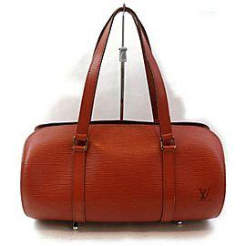 Louis Vuitton Brown Epi Leather Soufflot Papillon Bag 862893