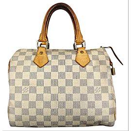 Louis Vuitton Speedy 25 213370 Damier Azur Canvas Satchel