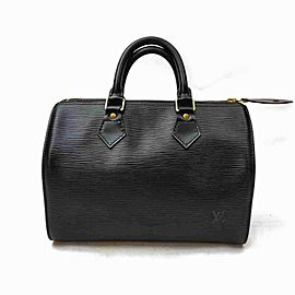 Louis Vuitton Black Epi Speedy 25 Boston PM 861025