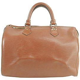 Louis Vuitton Speedy 30 18lk0102 Brown Epi Leather Satchel