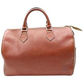 Louis Vuitton Speedy 30 869149 Brown Leather Satchel
