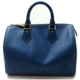 Louis Vuitton Blue Epi Speedy 30 Boston MM 861055
