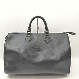 Louis Vuitton Black Epi Leather Speedy 35 Boston GM Bag 862239