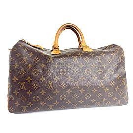 Louis Vuitton Speedy 40 Monogram La6518 Brown Coated Canvas Weekend/Travel Bag
