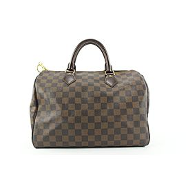 Louis Vuitton Damier Ebene Speedy 30 Boston Bag 721lvs323