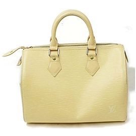 Louis Vuitton Speedy 872023 Vanilla 25 Cream Epi Leather Satchel