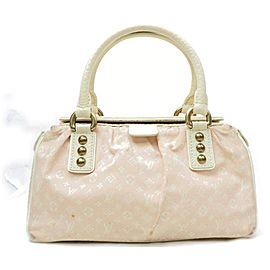 Louis Vuitton Speedy 872070 Trapeze Pm Boston Pink Monogram Mini Lin Satchel