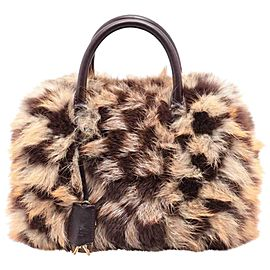 Louis Vuitton Fox Fur Damier Clair-Obscur Speedy 862403