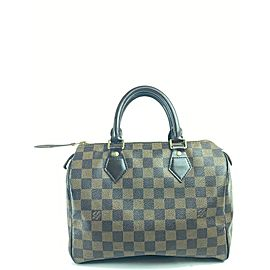 Louis Vuitton Speedy Damier Ebene 30 7la523a Brown Coated Satchel