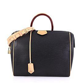 Louis Vuitton Black Epi Doc PM Bandouliere Speedy with Strap 860529