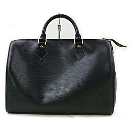Louis Vuitton Black Epi Leather Noir Speedy 30 Boston Bag 862974
