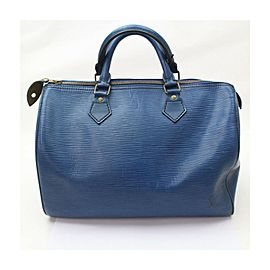 Louis Vuitton Blue Epi Leather Speedy 30 Bag 863213