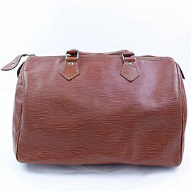 Louis Vuitton Speedy Kenya 30 866818 Brown Leather Satchel