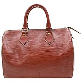 Louis Vuitton Speedy Kenya 30 868137 Brown Epi Leather Satchel