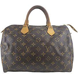 Louis Vuitton Speedy Monogram 30 2lk1127 Brown Coated Canvas Satchel