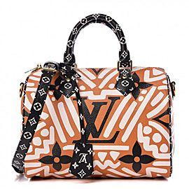 Louis Vuitton Monogram Giant Crafty Speedy Bandouliere 25 Strap Caramel 860349