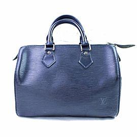 Louis Vuitton Black Epi Leather Noir Speedy 25 8661634