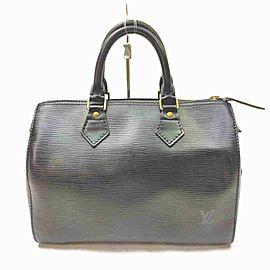 Louis Vuitton Black Epi Leather Noir Speedy 25 Boston PM 861567