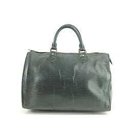 Louis Vuitton Speedy Noir 30 12lj1111 Black Epi Leather Satchel