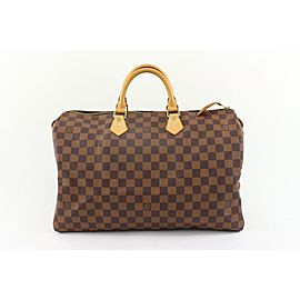 Louis Vuitton Ultra Rare 1 or 1 Centenaire Damier Ebene Speedy 40 Bag